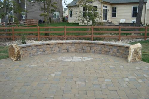 EP Henry Paver Patio With Sitting Wall - Ep henry patio