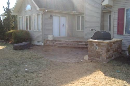 Paver Patio And Grilling Area