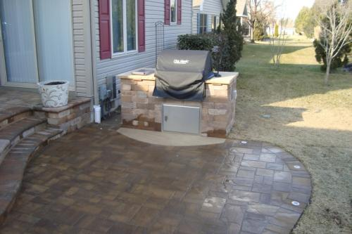Paver Patio and Grilling Area on Patio Grilling Area id=28103
